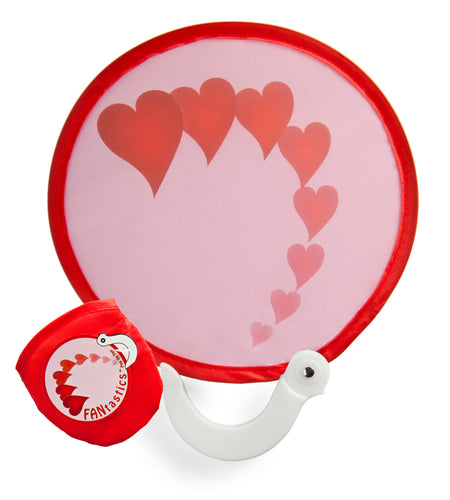 FANtastics Pop-Up Fan - Red Flying Hearts