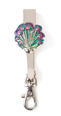 Peacock Feathers Key'P It Up® Purse Hanger