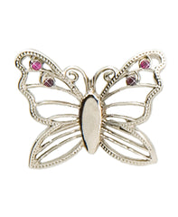 Silver Butterfly Finders Key Purse®