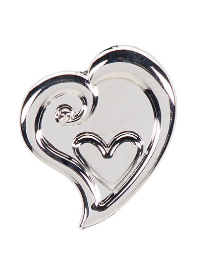 Silver Heart in Heart Finders Key Purse®