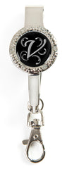 "Monogram BLING Key'P It Up® Purse Hanger ""V"""