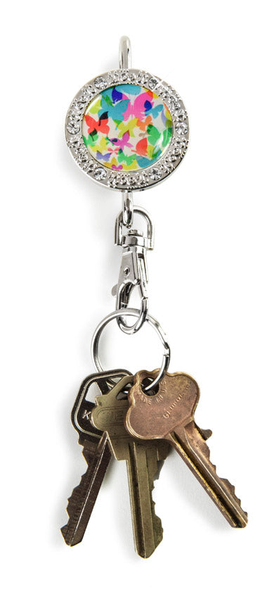 colorful bling accessories, colorful butterflies keychain, butterfly keychain, bling keychain