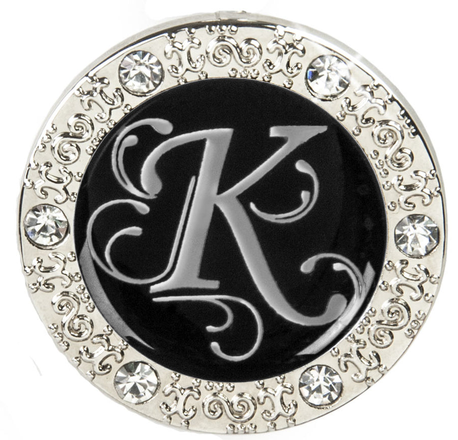 "Monogram BLING Finders Key Purse® ""K"""