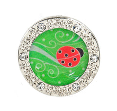 ladybug accessories, ladybug keychain, bling accessories, bling keychain