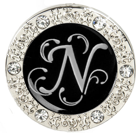 "Monogram BLING Finders Key Purse® ""N"""