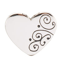 Silver Scroll Heart Finders Key Purse®