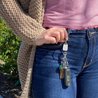 Silver Plain Finders Key Purse