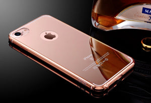 Rose Gold Mirror Case for iPhone 6 to X - God Of Cases