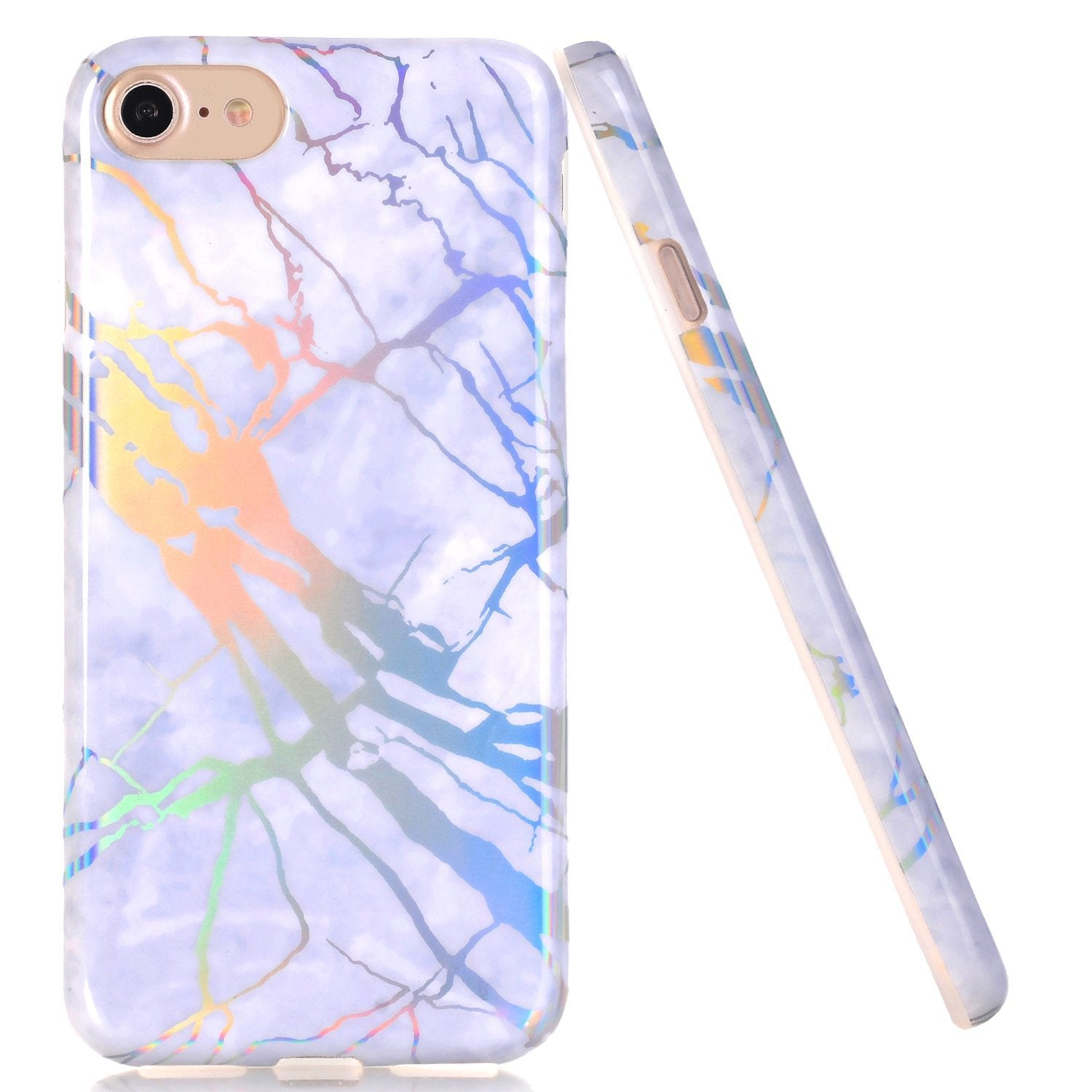 Silver Marble Case for iPhone 6 to X - God Of Cases