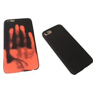 Black Thermal Sensor Case For iPhone 5 to X - God Of Cases