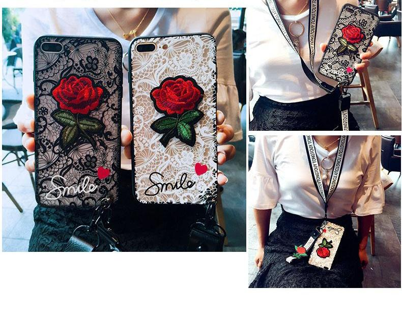 Red Rose Case for iPhone 5 to X - God Of Cases