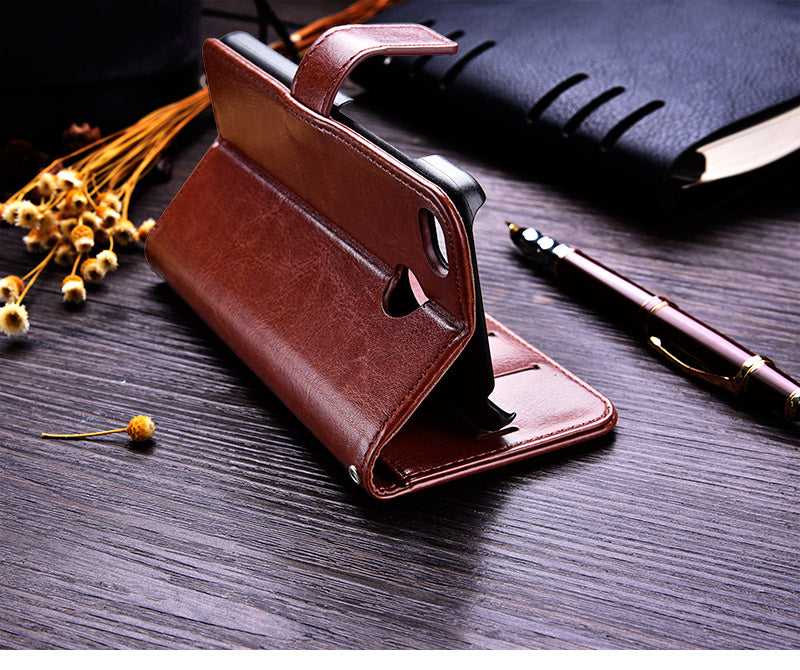 Leather Wallet Case For Xiaomi Redmi 4X - God Of Cases