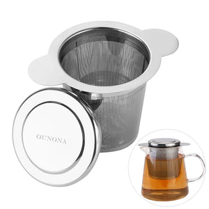 OUNONA Stainless Steel Filtering Loose Leaf Tea Infuser Basket for Cups and Mugs
