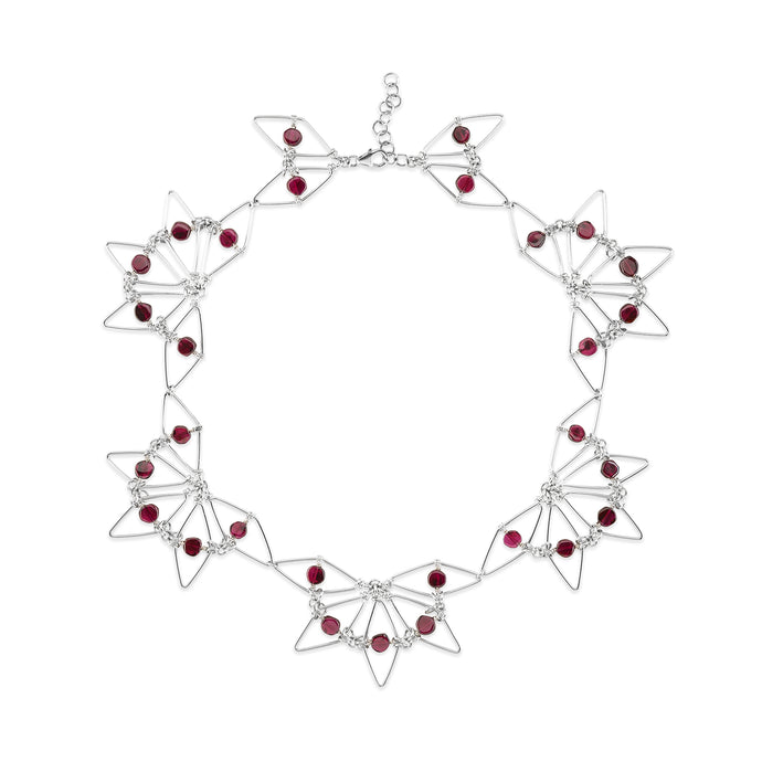 Garnet Bloom Necklace