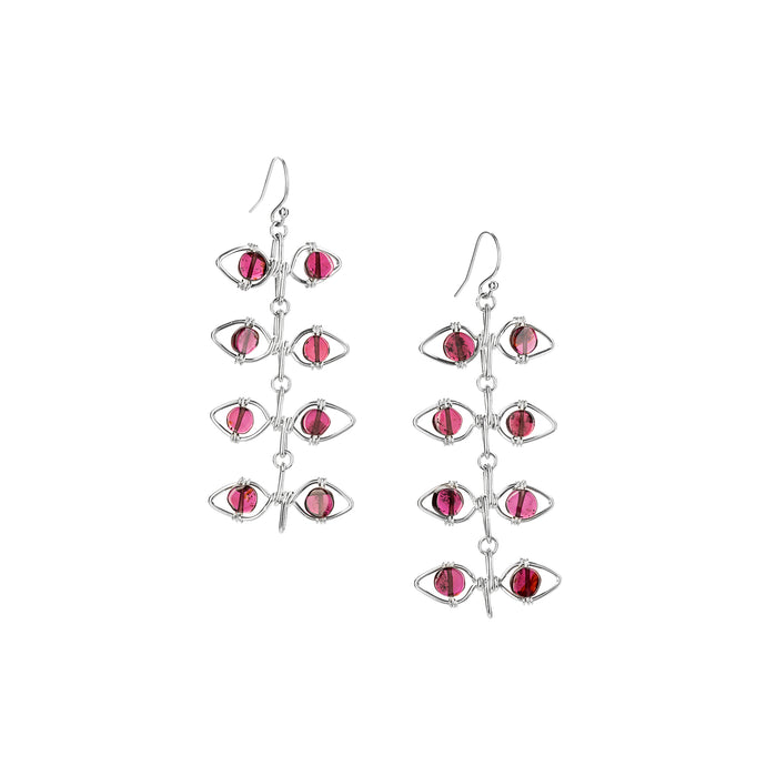Garnet Vine Earrings