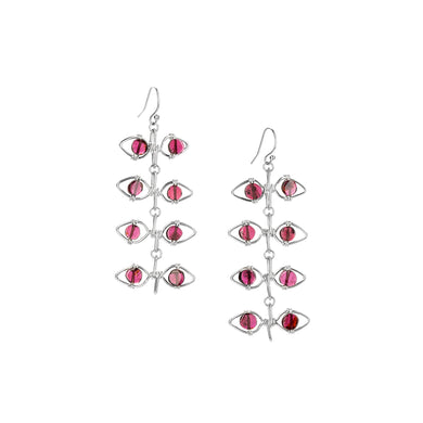 Boundless Garnet Vine Earrings