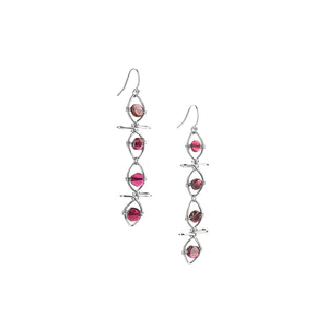 Eternal Garnet Vine Drop Earrings
