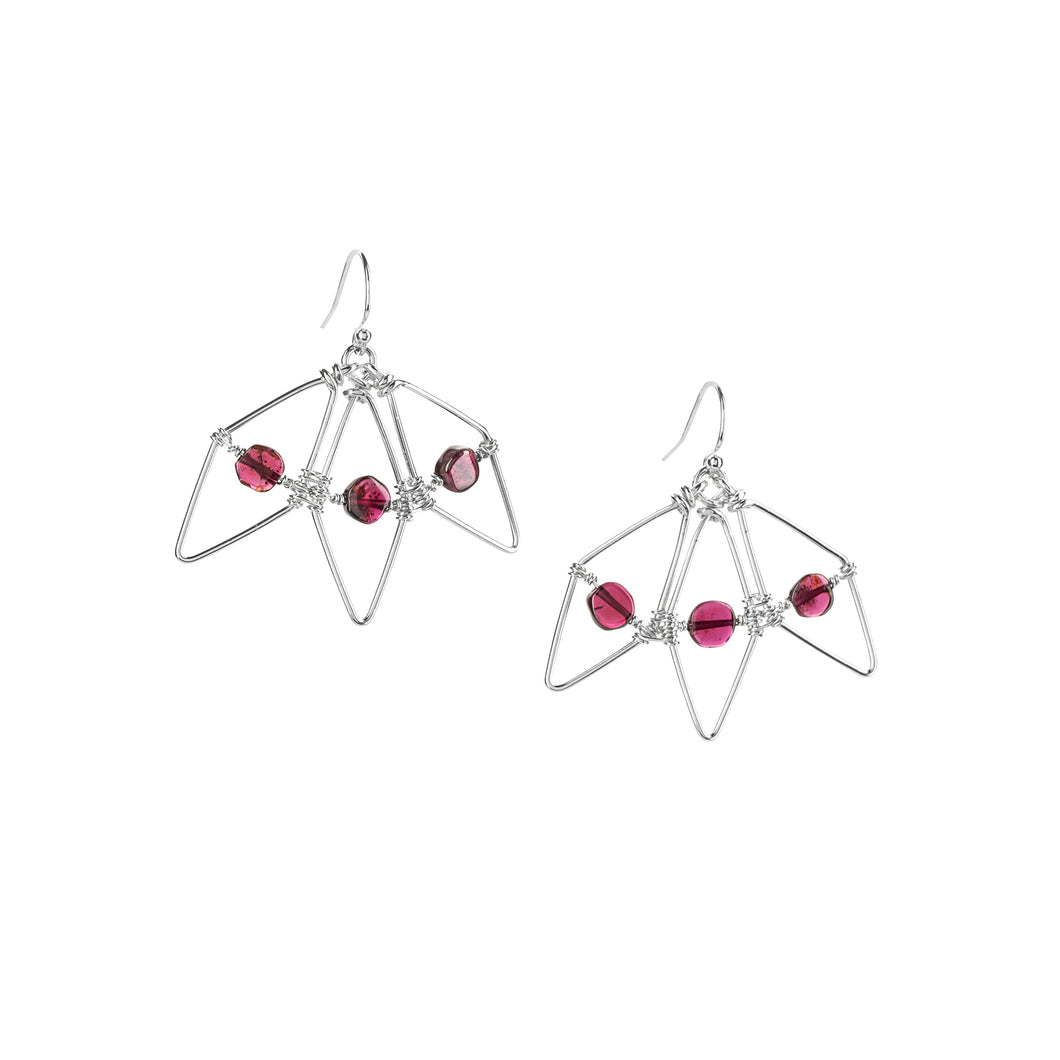 Garnet Bloom Earrings