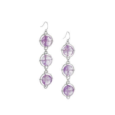 Amethyst Continuum Earrings