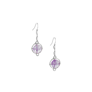 Amethyst Continuum Dangle Earrings