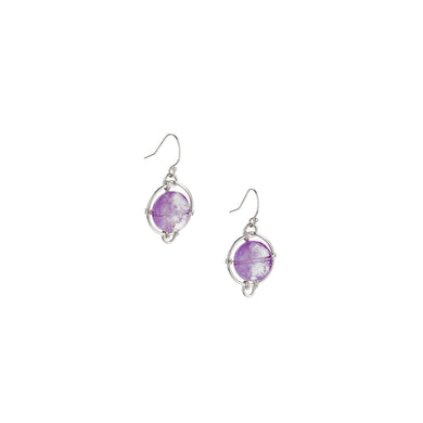Amethyst Continuum Drop Earrings
