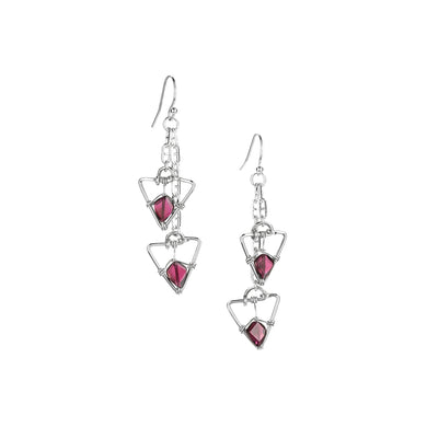 Garnet Point Earrings