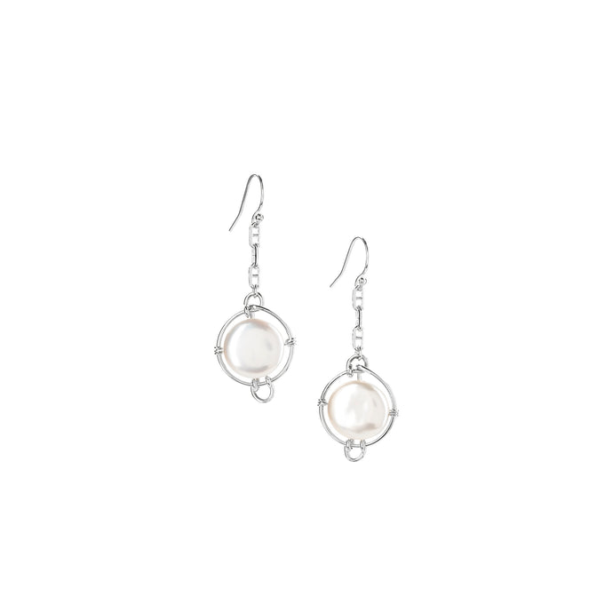 Pearl Continuum Dangle Earrings