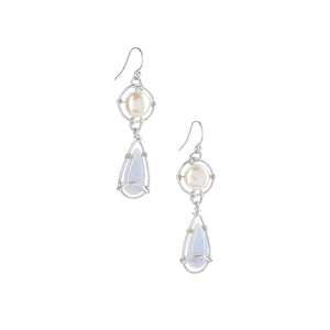 Something Blue Lace Teardrop Earrings