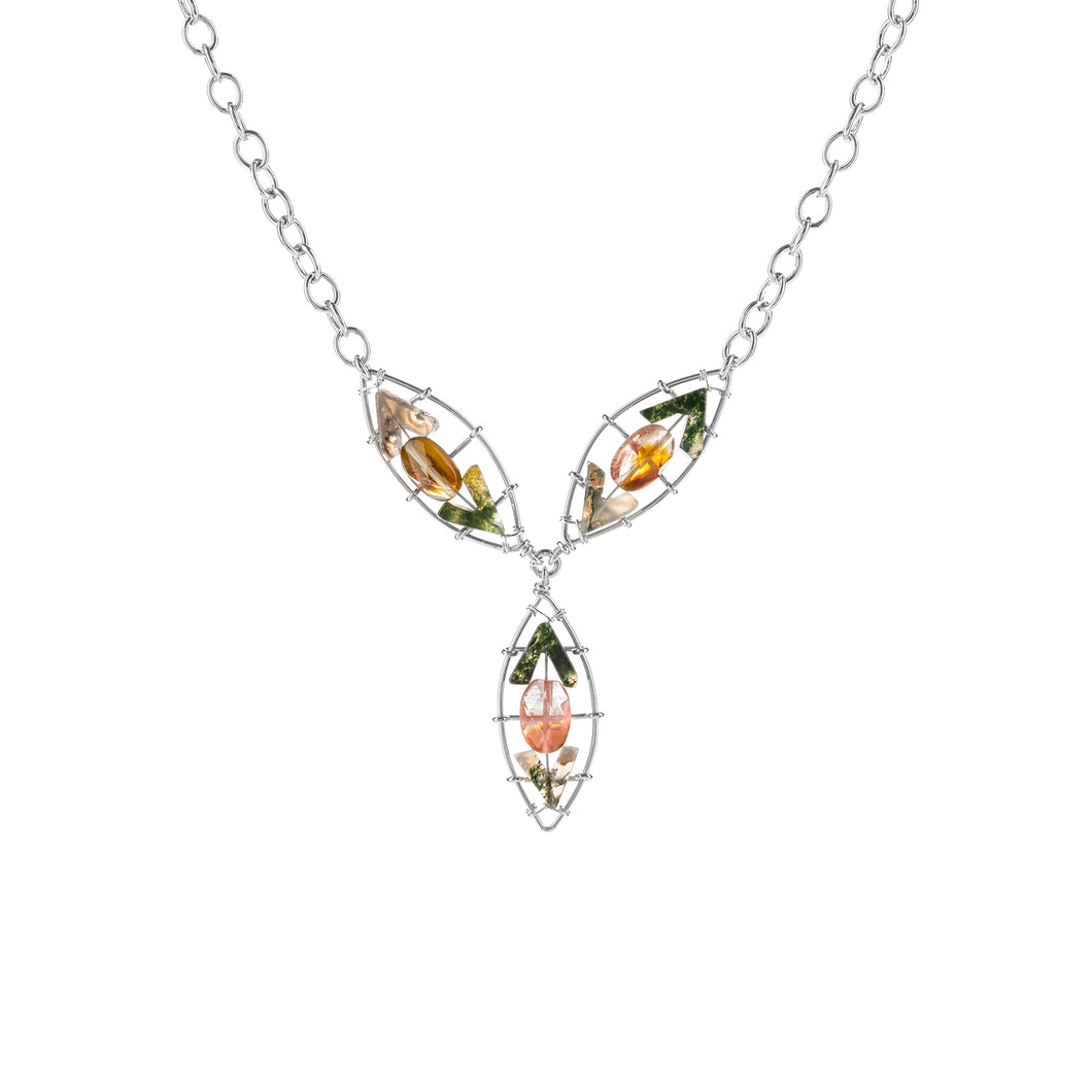 Water Lily Drop Necklace