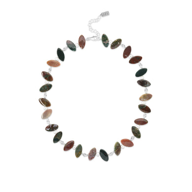 Jasper Petal Necklace