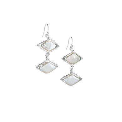Infinite Pearl Diamond Point Earrings