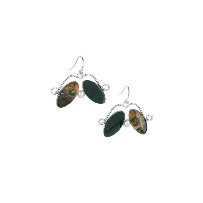 Jasper Petal Earrings