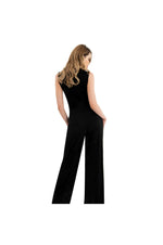 LAMACE Black Silk Jersey Jumpsuit