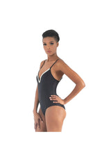 LAMACE Black One Piece With Silver Embellishments