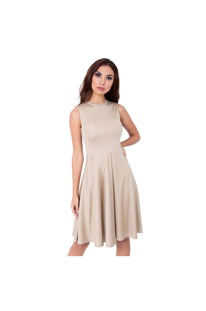 LAMACE Light Gold Silk Jersey Midi Dress