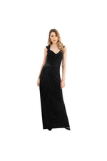 LAMACE Black Silk Jersey Gown with Bead and Crystal Embellishment