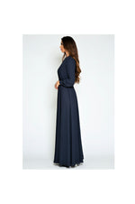 LAMACE Blue Crepe Day Dress