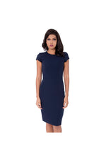 LAMACE Crepe Blue Midi Day Dress