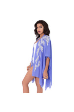 LAMACE Purple Beach Kaftan with Silver Bead and Crystal Embellishments