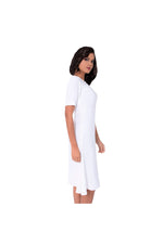 LAMACE White Crepe Day Dress