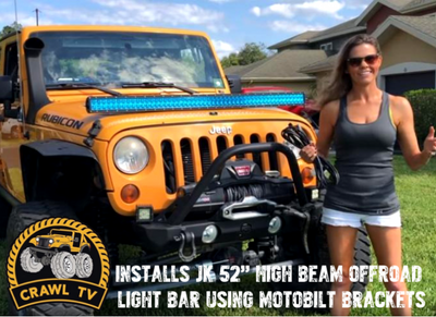 Crawl TV Installs Jeep JK 52 Inch Light Bar Brackets