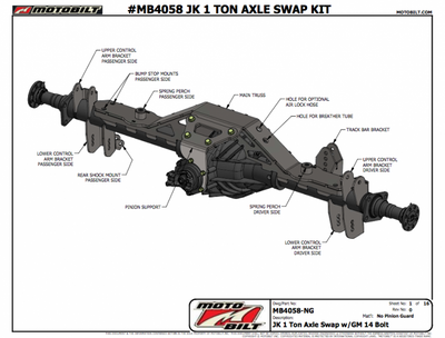 Jeep JK 1 Ton Axle Swap Instructions For The GM 14 Bolt