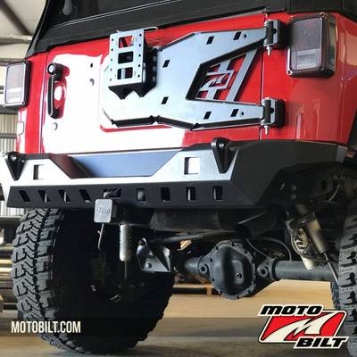 Jeep JK Spare Tire Carrier Install With High Lift Jack Mount and Tag Relocation kit