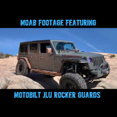 Moab Tested! The New Motobilt Jeep JL Rocker Guards With Steps