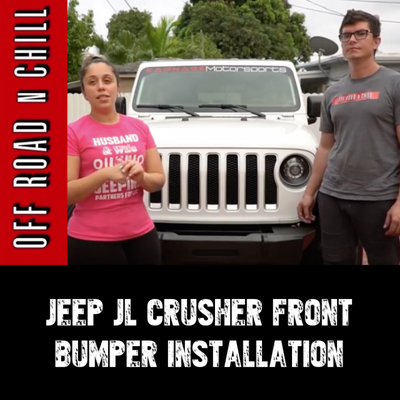 How To Install The Jeep Wrangler JL  Front Bumper From Motobilt