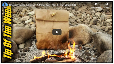 Cooking Bacon and Eggs Without a Pan Outdoors