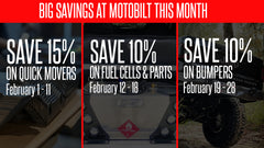 An entire MONTH of savings at Motobilt!