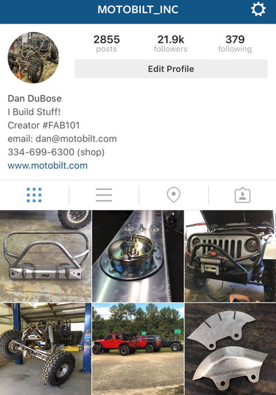 Follow Motobilt on Instagram