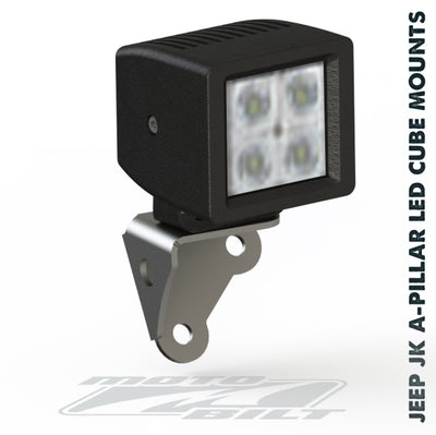 Bolt Jeep JK Windshield Cube LED Light Mounts