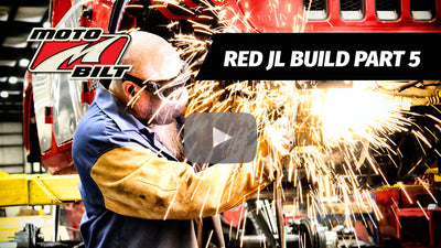 VIDEO - MOTOBILT RED JL BUILD PART 5 - AXLES, SUSPENSION AND REALLY BIG TIRES